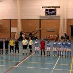 Zaalvrouwen Drs. Vijfje denderen door en winnen ook laatste competitiewedstrijd van dit jaar (incl. VIDEO)