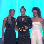 Grytsje van den Berg (KTP Nieuw Roden) wint 2de plaats op Beach Soccer Gala of the Stars in Dubai