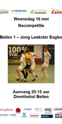 Affiche Beilen-Jong Leekster Eagles.16-05-2018