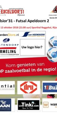 Affiche Excelsior-Futsal Apeldoorn 2.12102018