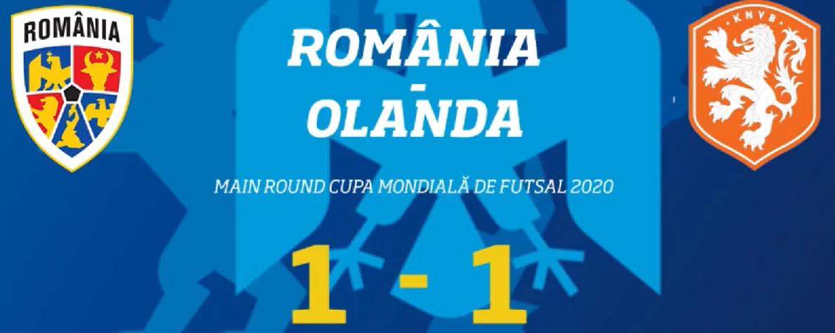 Nederlands zaalvoetbalteam speelt gelijk tegen gastland Roemenië