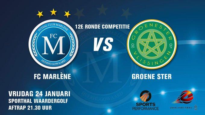 Groene Ster Vlissingen verliest bij FC Marlène