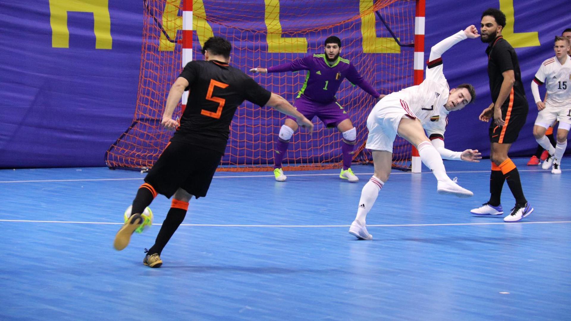 België is futsalteam nipt de baas