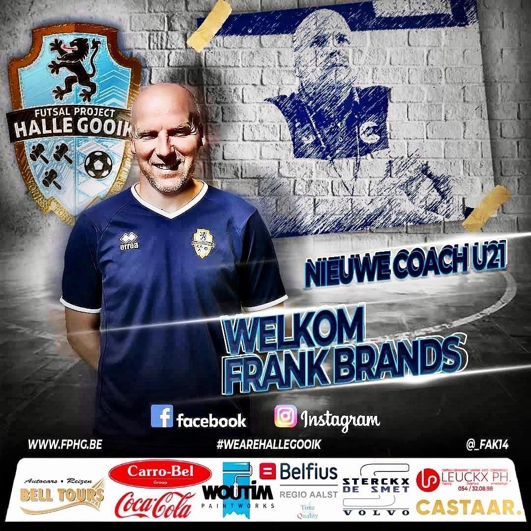 Ex-international Frank Brands wordt coach van FP Halle-Gooik U21