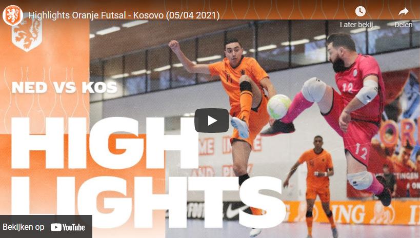 Oranje Futsal en Kosovo komen niet tot scoren (incl. VIDEO)
