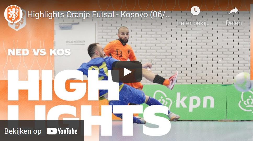 Oranje Futsal boekt overwinning op Kosovo (incl. VIDEO)