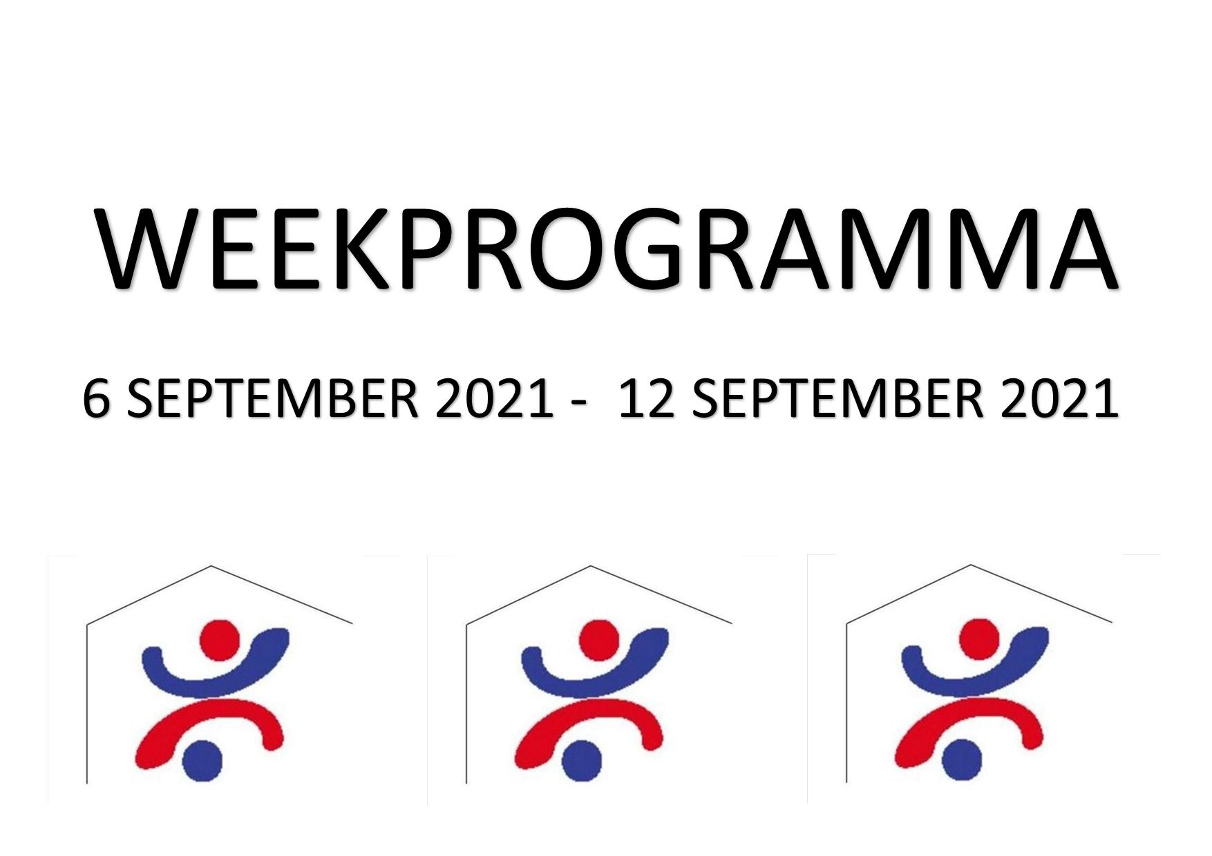 Weekprogramma (6 sept - 12 sept)